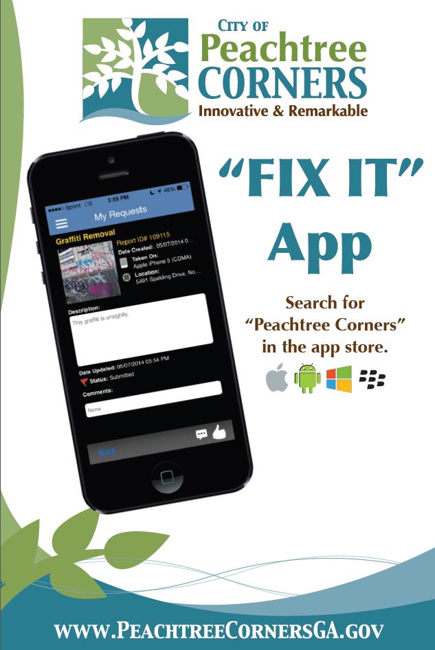 Peachtree Corners App Poster