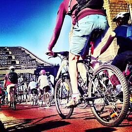 Sydney instagram photo of cycling event