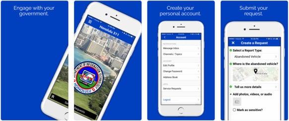 Honolulu 311 Mobile citizen engagement app