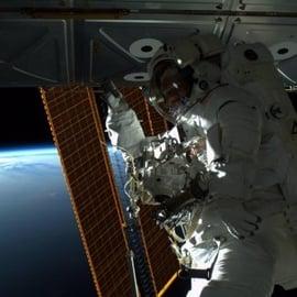 NASA instagram photo of astronaut
