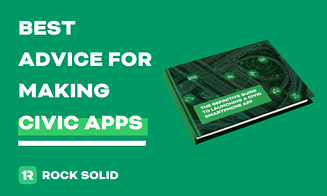 Definitive guide to government mobile apps promo image   rocksolid.com