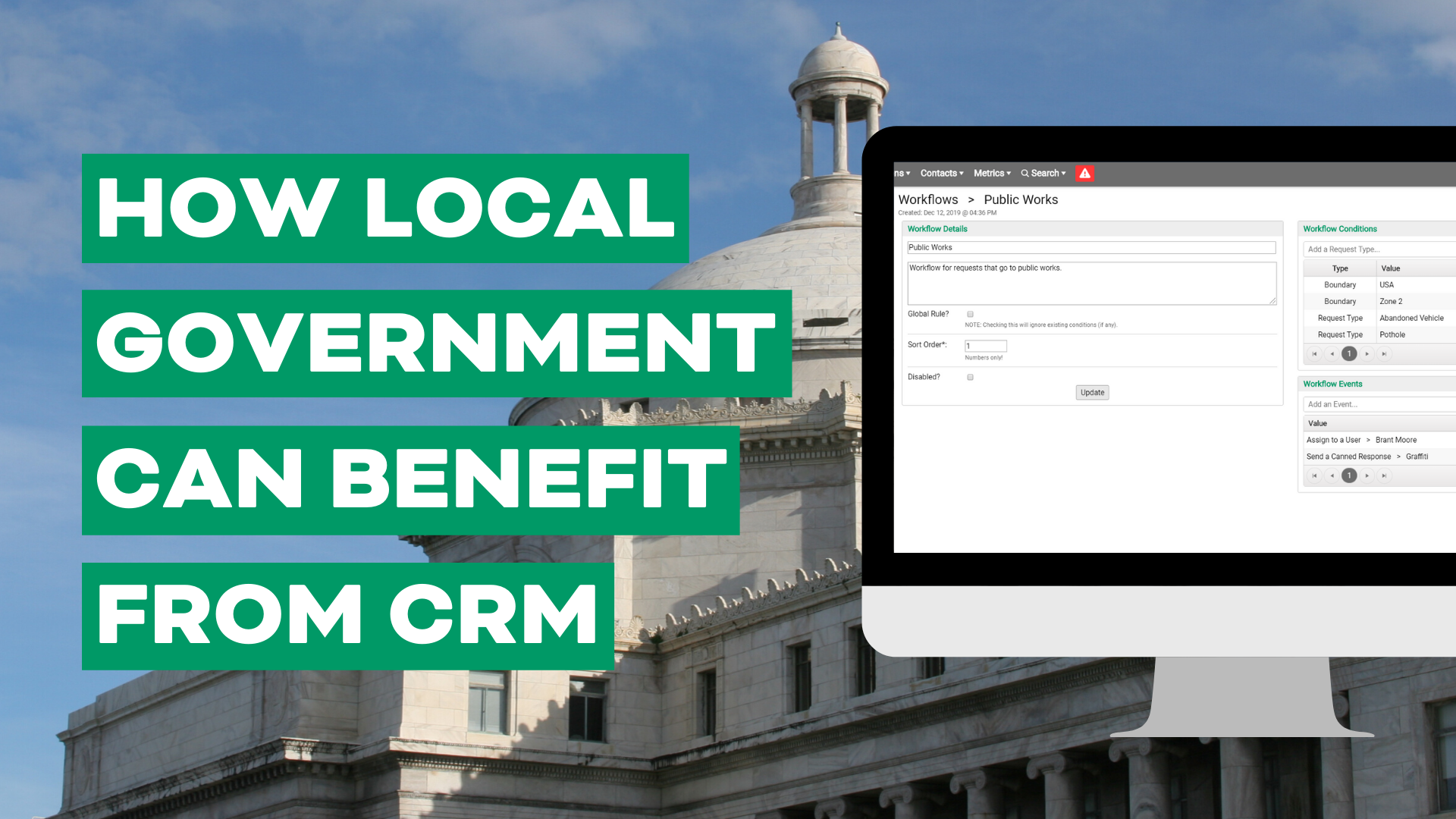 Four Benefits of CRM for Government