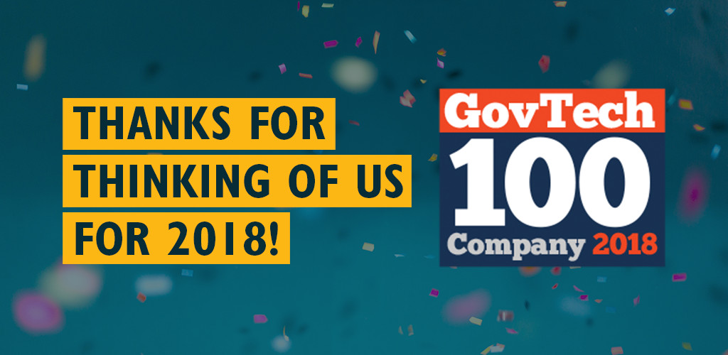 Awarded GovTech 100 for Third Consecutive Year