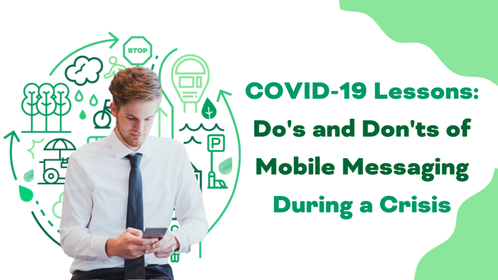 blog heading image for do's and don'ts for mobile messaging during the COVID-19 crisis | rocksolid.com