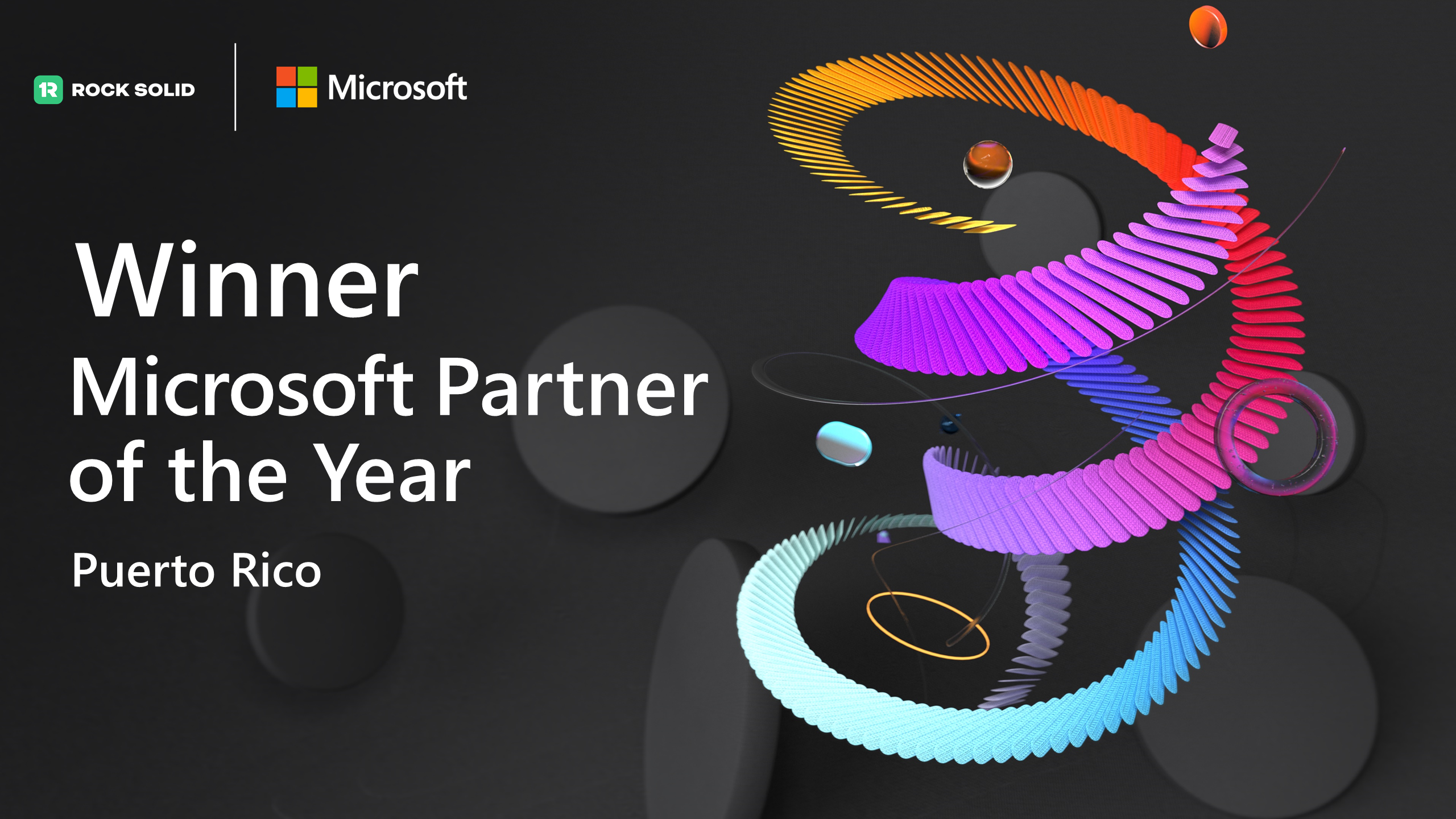 Rock Solid is recognized as the winner of the 2021 Microsoft Puerto Rico Partner of the Year