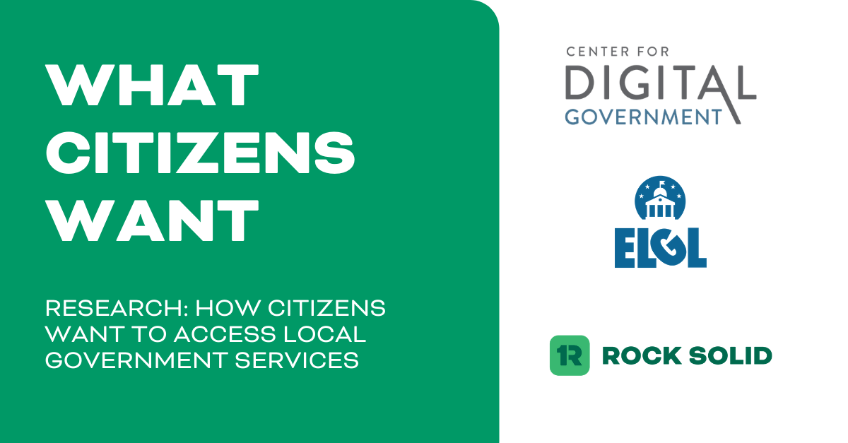 Rock Solid, ELGL, and CDG Publish New Citizen Research