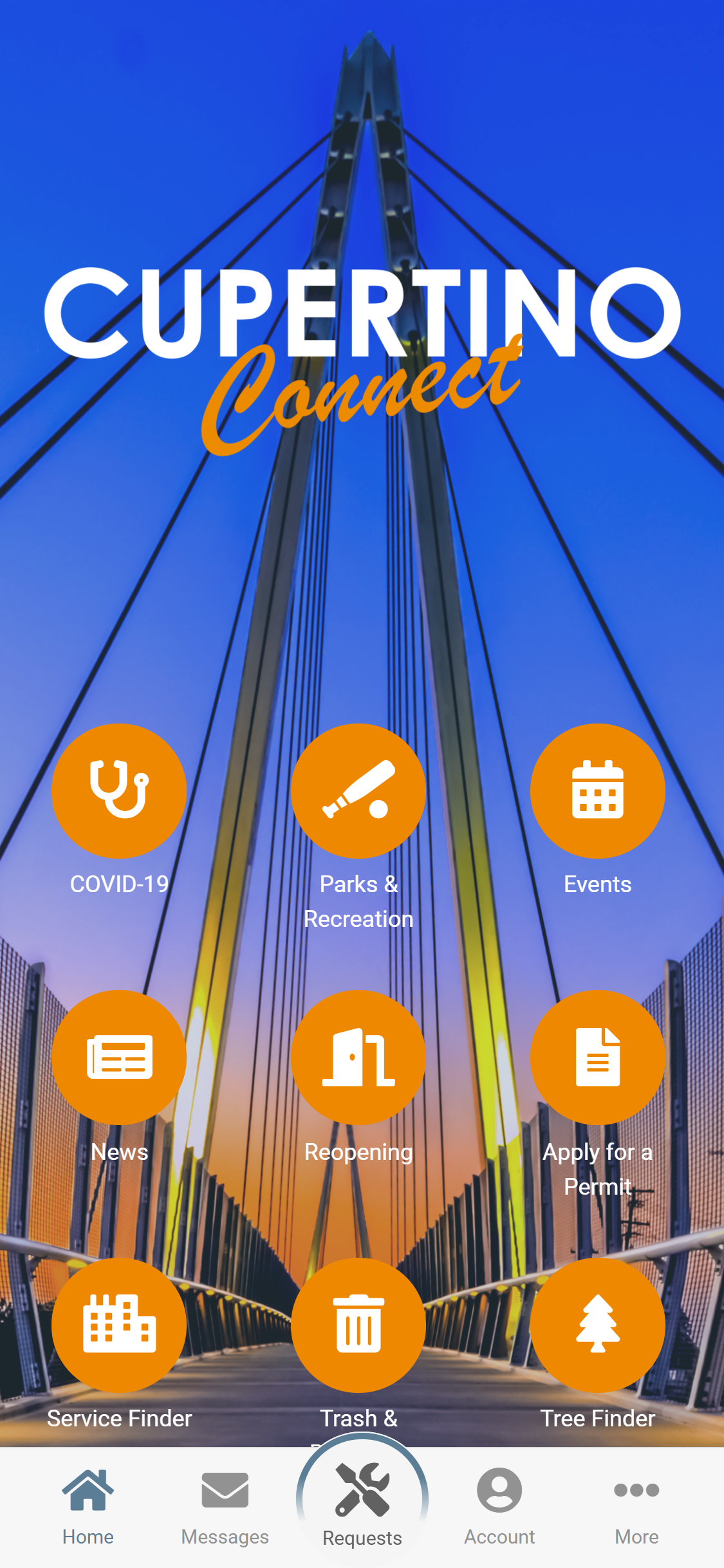 cupertino rock solid app home screen